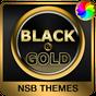ブラック&ゴールド - Xperiaのテーマ